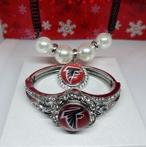 Jewelry - Atlanta Falcons Necklace and Bracelet set